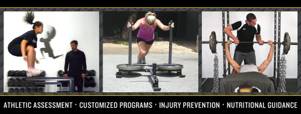 ATHLETIC ASSESSMENT - CUSTOMIZED PROGRAMS - INJURY PREVENTION - NUTRITIONAL GUIDANCE