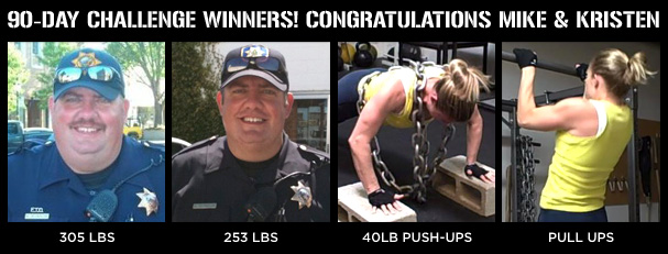 90-Day Challenge winners! Congratulations MIKE & KRISTEN